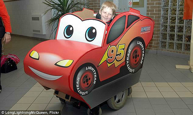 cars wheelchair costume