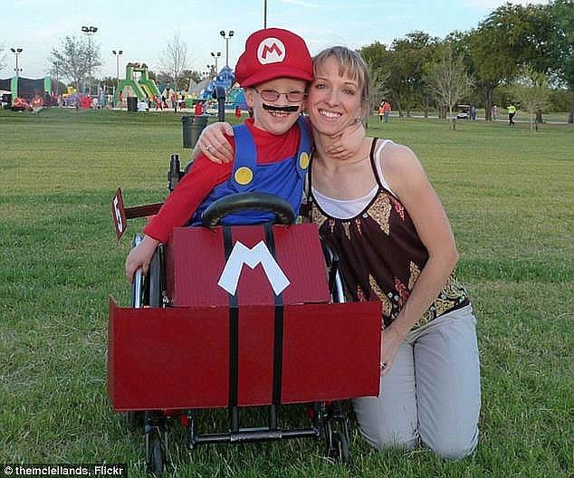 mario wheelchair costume