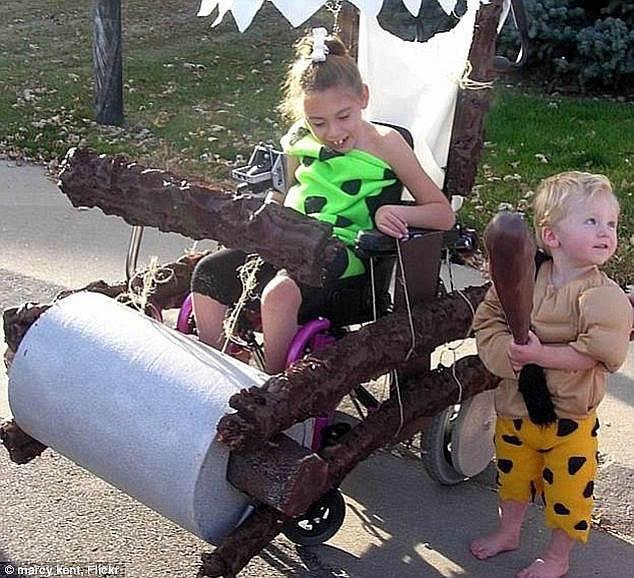 flintstone wheelchair costume