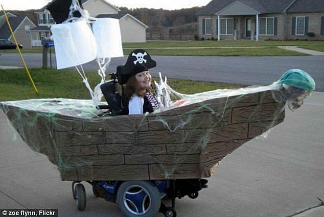 pirate wheelchair costume