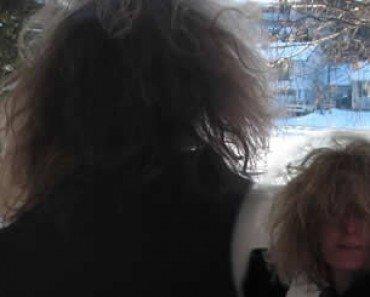 crazy lady hair