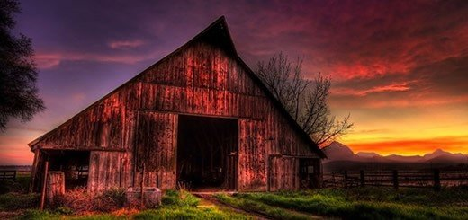 The Old Red Barn In Prince George B.C.