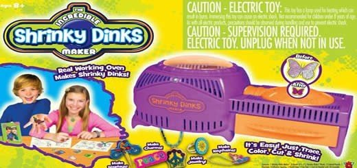 Incredible Shrinky Dinks  –  Just Pop Your Dink In The Maker