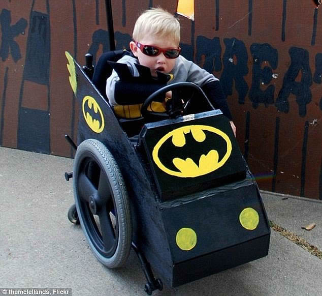 batman wheelchair costume