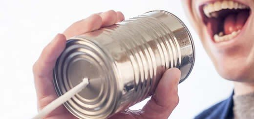 Speaking Into Tin Can