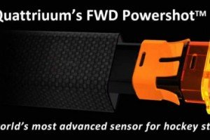 Quattriuum FWD Hockey Powershot Syncs With Smartphone To Measure Speed And Stats Of Shots