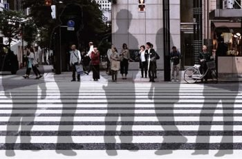 Invisible People On Cross Walk